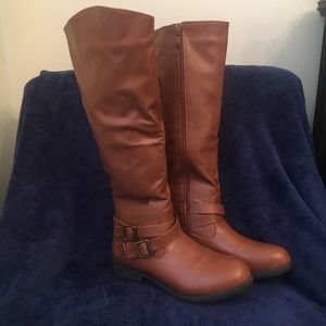 Journee Collection Brown Riding Boots Sz 7.5